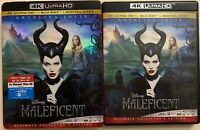 MALEFICENT 4K ULTRA HD BLU RAY 2 DISC SET + SLIPCOVER DISNEY ANGELINA JOLIE