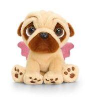 Keel Toys Pugsley - 20cm OR 14CM Angel Pug Dog W / Wings Cuddly Soft Toy Teddy
