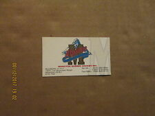 QMJHL Moncton Alpines Vintage Logo Junior Hockey Business Card