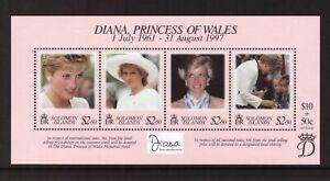 Solomon Islands 1998 Princess Diana sheet MNH mint stamps