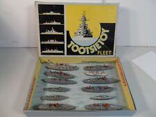 "Vintage 1939 Tootsietoy ""Fleet"" Complete Set #5700 with original box and insert"