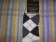 Une paire de chaussettes à carreaux blanc SPORT'RING P39-42