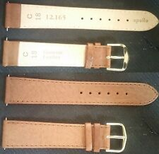 Cartier Apollo Leather Light Brown strap band 18mm-16mm w/buckle NEW ! L@@K !