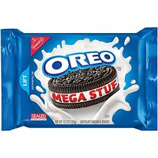 NEW OREO MEGA STUF CHOCOLATE SANDWICH COOKIES 15.35 OZ FREE WORLDWIDE SHIPPING