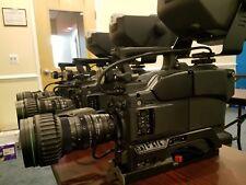 Sony DXC-D50 Studio Broadcast Camera w/ Lens,Tripod Mount,CCU,Viewfinder & Cable
