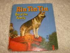 Vintage Children's Book -  Rin Tin Tin, One Of The Family - 1953