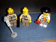 Lego City Minifigures 3x Poliziotti + Ladro