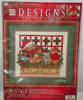 Dimensions Designs for The Needle Cross Stitch Kit 1986 Christmas Teddies