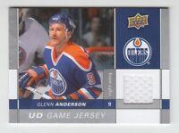 (66136) 2009-10 UPPER DECK GAME JERSEY GLENN ANDERSON #GJ-GA