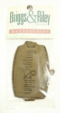 New Sealed Large Print Briggs & Riley Genuine Leather Luggage Name Tag Olive