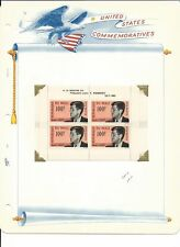Mali Collection, John F. Kennedy on 3 White Ace Pages, Mint NH, C24a, FDC