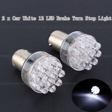 2x Bright White Car 1157 BAY 15D 12 LED Brake Stop Tail Light Lamp Bulb S30