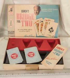 Vintage 1964 Milton Bradley Goren's Bridge for Two Game Complete mjb