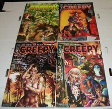 CREEPY #1-4 COMPLETE MINI-SERIES - ALL DAN BRERETON COVERS - HARRIS COMICS/1992