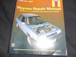 Repair Manual Haynes 72050 82-94 Nissan Sentra Metal clasp to hold book together