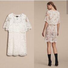 Burberry Lace Scalloped Mini Dress EUC Size UK 10 US 4 6 8
