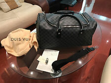 "Louis Vuitton ROADSTER 50 Damier Graphite Grey Duffle Bag ""Pristine Conditon"""