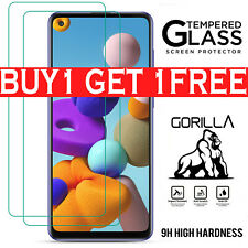 For Samsung Galaxy A21s A20s A20e Screen Protector Tempered Glass Case Friendly