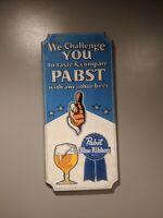 Pabst Blue Ribbon Beer Wood We Challenge You Wooden Bar Sign PBR