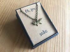 "Cute Bronze Little Fox Necklace on ""Oh, For Fox Sake"" Card New in Gift Box"