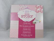 Desingblock  Love Story  30 Blatt  Hintergrundpapier   Scrapbooking Basteln
