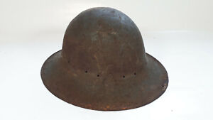 WW2 Zuckerman Civil Defence Firewatchers Tin Helmet. No liner. Re-enactors?