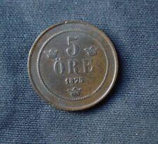 Munt Zweden/Sweden/Sverige: 5 Öre 1875