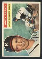1956 Topps #312 Andy Pafko EX/EX+ Braves 82839