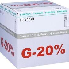 GLUCOSE 20% Braun Mini Plasco connect Inj.-Lsg. 20X10ml PZN 3158931