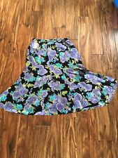 Coldwater Creek 1x Floral Skirt