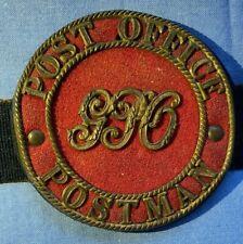 VERY RARE ANTIQUE GPO POST OFFICE UNIFORM BADGE POST OFFICE POSTMAN BADGE