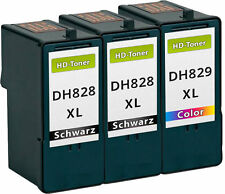 3x XXL TINTE PATRONEN DH828 DH829 CH883 CH884 für Dell 966 968 A966 A968 SET