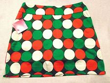 "Loudmouth Golf Cotton Blend ""Jingle Balls""  Polka Dot Pattern Golf Skort NWT 2"