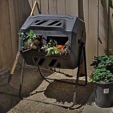 Composter Tumbler yard Garden Waste Bin Grass Food Trash Fertilizer Lawn Leaves