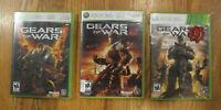 Gears of War 1, 2 & 3 Bundle Lot (Microsoft Xbox 360) - Tested - Free Shipping