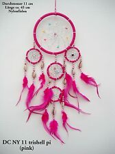 NEW HANDMADE NATIVE AMERICAN INDIAN STYLE DREAM CATCHER PINK / dcny11trishellpin