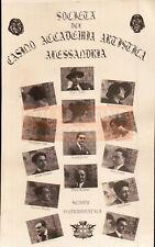 FOTO SU CARTOLINA SOCIETA' ACCADEMIA ARTISTICA di ALESSANDRIA - TEATRO - C9-1110