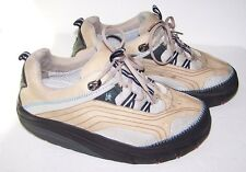 MBT Chapa Women's 9.5 Shoes ~ Walking, Toning, Hiking, Rocker Sole, Leather, Tan