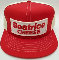 Vintage Snapback Large Cheese Patch Swingster Trucker Hat Red White Cap USA Made