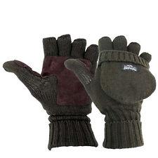 Highlander (Small) Fingerless Shooting Mitts OLIVE Gloves Suede Palm Highlander