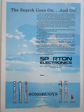 1/1983 ad sparton electronics sonobuoy asw us navy DICASS DIFAR original ad