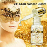 24K Gold Eye Essence Collagen Hyaluronic Acid Facial Care Anti Aging Serum 10ml