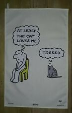 AT LEAST THE CAT LOVES ME  COTTON TEA TOWEL BY LAMONT