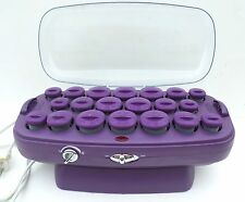 Conair Hot Rollers Curlers Pageant CHV37T Purple 20 Velvet Multi No Clips