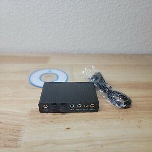 External USB 5.1 3D Audio Sound Card Virtual 7.1 Channel Converter Adapter H1J7