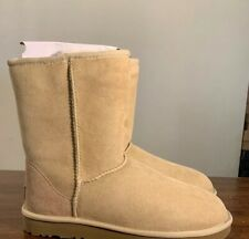 UGG CLASSIC SHORT II 1016223 SAND SIZE 10, WOMAN'S BOOTS AUTHENTIC BRAND NEW**