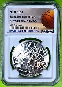 2020 P Basketball Hall of Fame $1 PF70UC (2014)