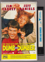 DUMB AND DUMBER- JIM CARREY & JEFF DANIELS , CLAMSHELL VHS VIDEO TAPE
