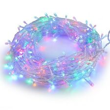 10M 100 LED Fairy Lights Indoor String Lights 8 Functions Multicolour UK Plug