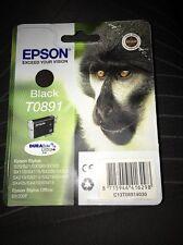 Genuine Epson T0891 Cartuccia nero ORIGINALE VUOTO SIGILLATO TO891 OEM Inchiostro Scimmia